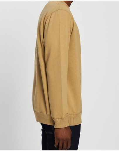 Afends Circle Pit Crew Neck Moss
