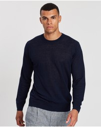 Scotch & Soda - Ams Blauw Crew Neck Knit