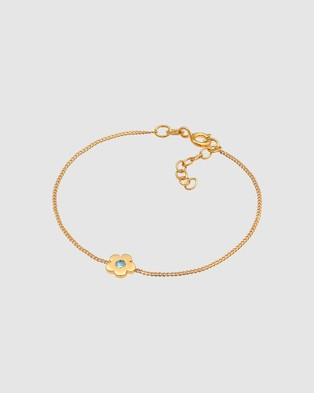 Elli Jewelry Kids - Bracelet Children Flower with Swarovski® Crystals in 925 Sterling Silver Gold Plated - Jewellery (Gold)