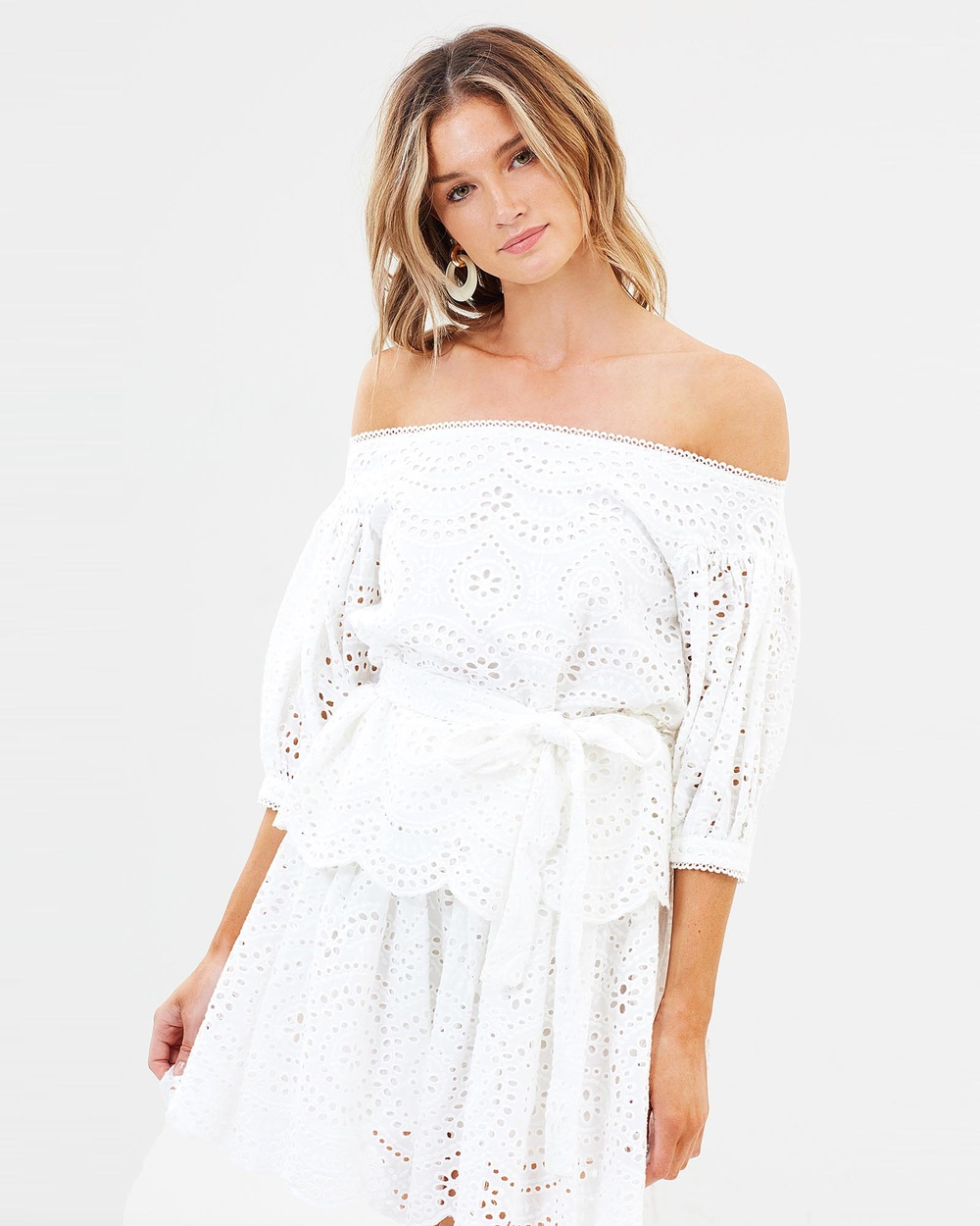 Ministry of Style Western Prairie Embroidery Top Tops Ivory Western Prairie Embroidery Top