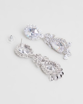 Stephanie Browne Liz Earrings - Jewellery (Rhodium)