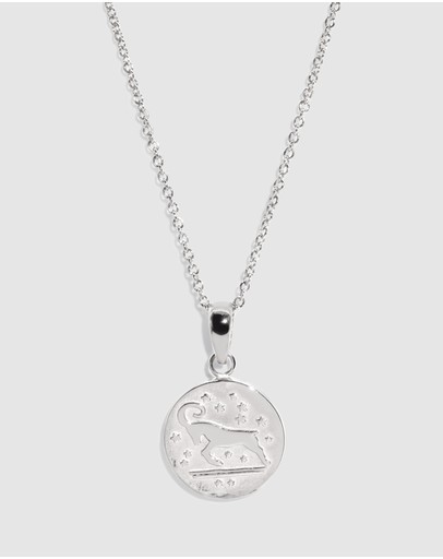 Molten Store The Silver Aries Zodiac Pendant Necklace