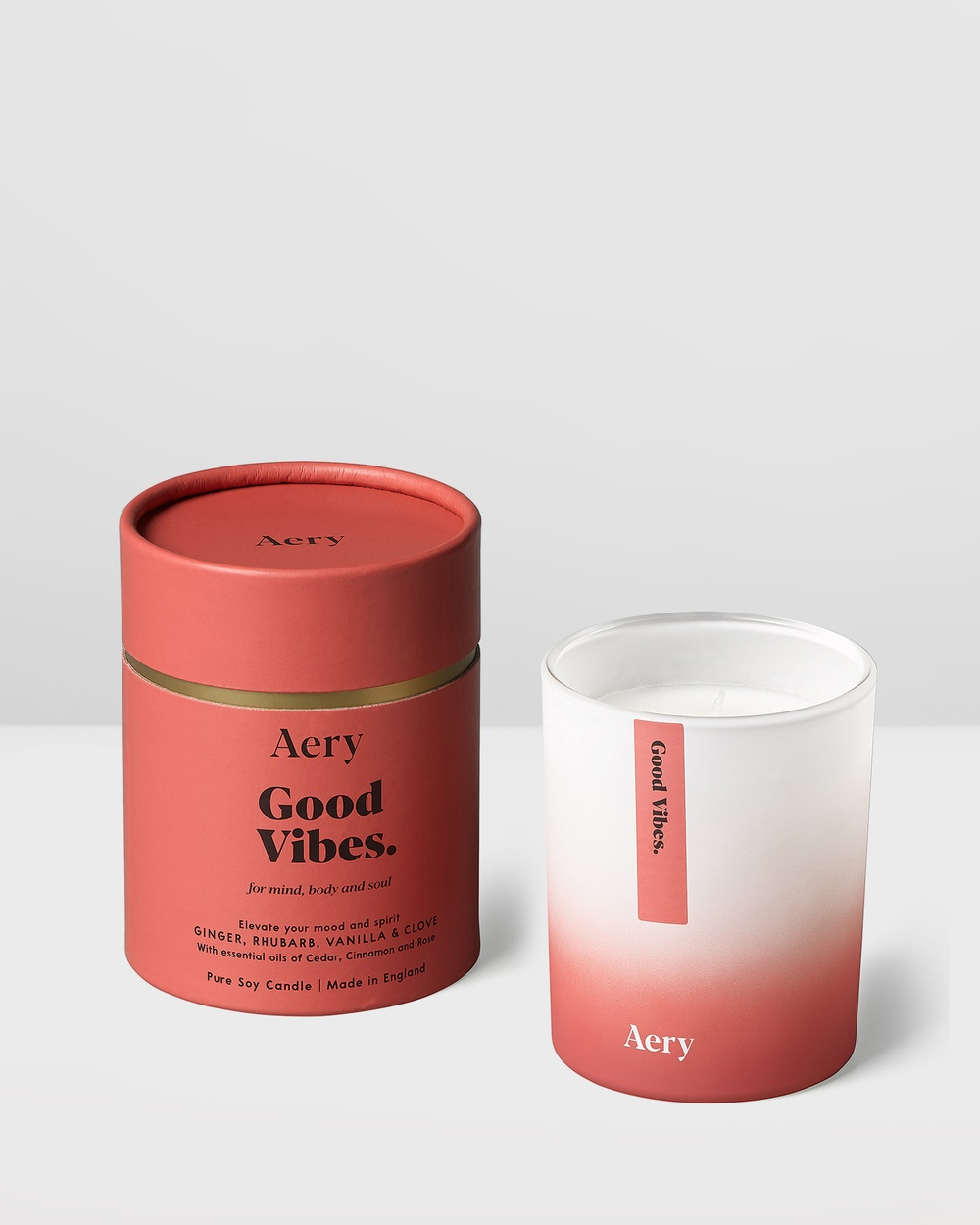 Aery Living Aromatherapy 200g Soy Candle Candles Red