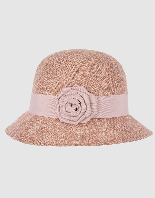 Women Cloche Rose Bucket Hat