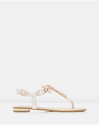 Forever New - Jazzy Jewelled Toepost Sandals
