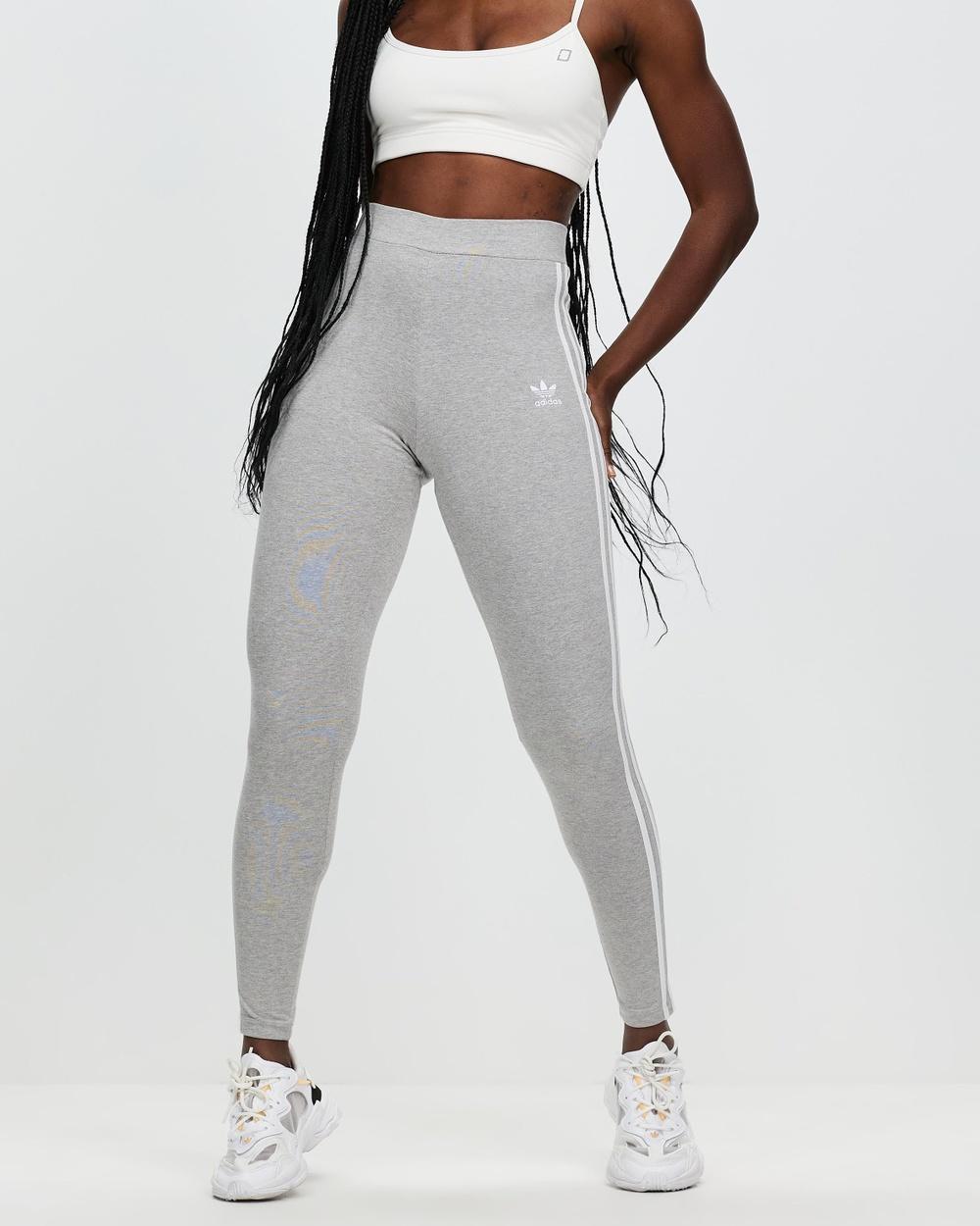 adidas Originals 3 Stripes Tights Full Medium Grey Heather 3-Stripes