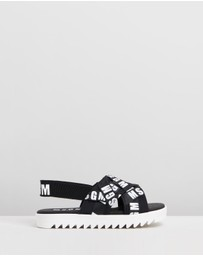 MSGM - Cross-Over Strap Sandals - Kids