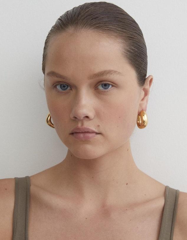 Women Trending Upwards Gold Hoop Earrings