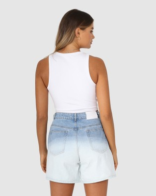 BY.DYLN Bailey Crop - T-Shirts & Singlets (White)