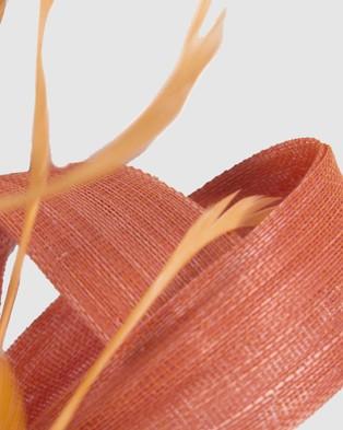 Fillies Collection Abaca Loops Racing Fascinator - Fascinators (Orange)