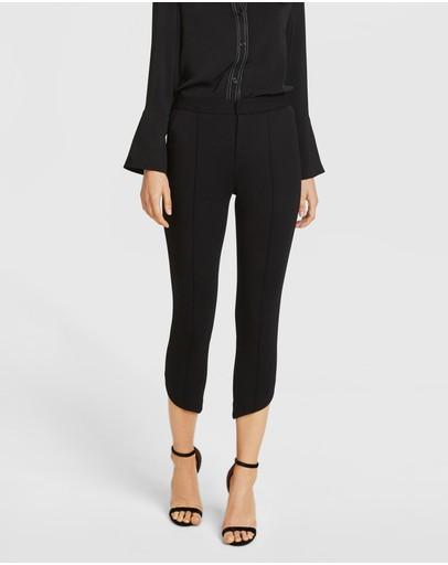 Aris Diagonal Hem Trousers Black