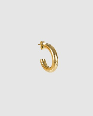 FAIRLEY Basic Gold Hoops Jewellery Gold