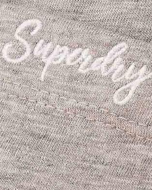 Superdry Orange Label Essential Tank - Singlets (Mid Grey Marle)