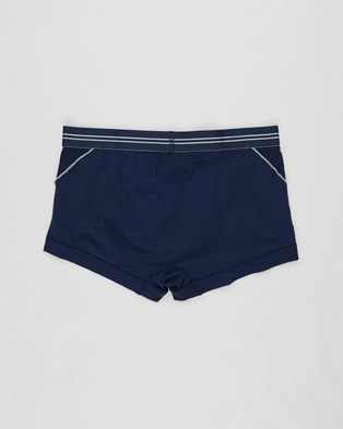 2xist Sports Mesh Varsity No Show Trunks - Trunks (Navy)