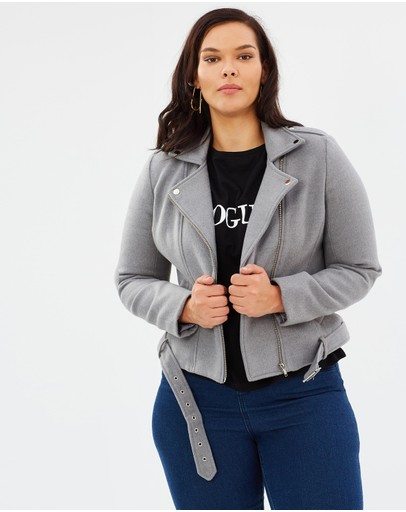 Atmos&Here Curvy - ICONIC EXCLUSIVE - Bianca Melton Biker Jacket