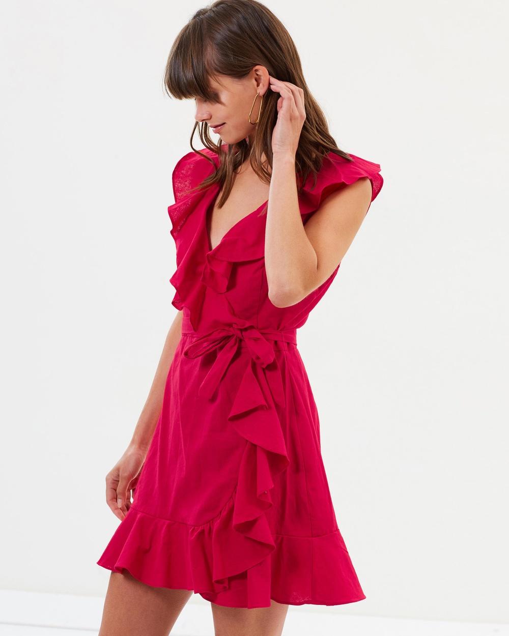 Lulu & Rose Deep Red Regan Wrap Dress