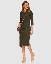 Oxford - Kim Stud Detail Ponti Dress