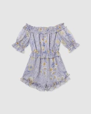 Designer Kidz Alyssa Floral Playsuit - Jumpsuits & Playsuits (Lilac)