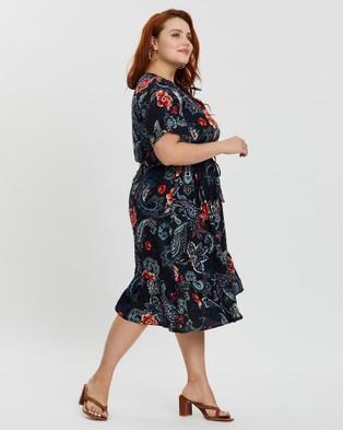 Hope & Harvest Delilah Dress - Printed Dresses (Paisley Rose)