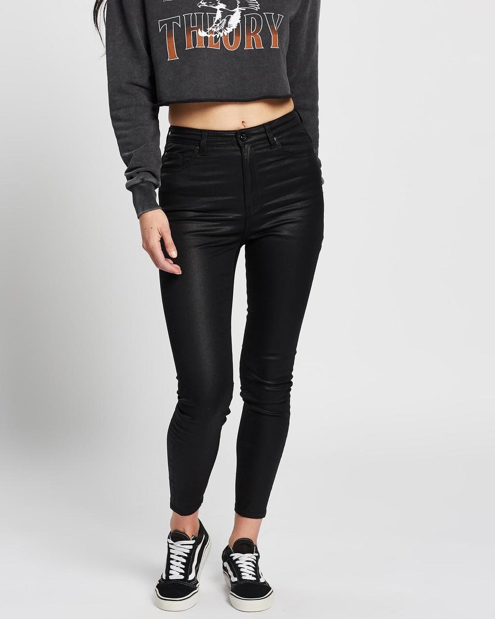 Silent Theory The Vice High Skinny Jeans High-Waisted BLACK High-Waisted Australia