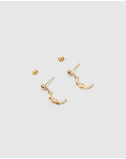 Izoa Moon Earrings Gold