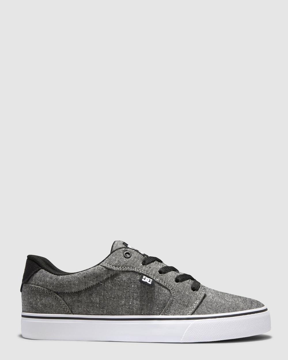 DC Shoes - Mens Anvil Shoe - Sneakers (BLACK DARK USED) Mens Anvil Shoe
