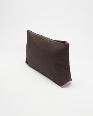 AERE Organic Canvas Pouch Bags & Tools Charcoal Black