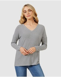 French Connection - Soft V Neck Long Sleeve