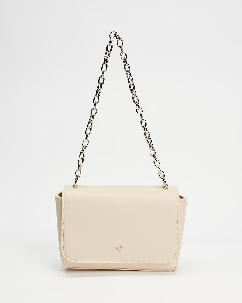 PETA AND JAIN Becca Handbags Nude Smooth Silver