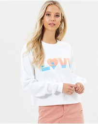 Miss Selfridge - Love Flamingo Crop Sweater