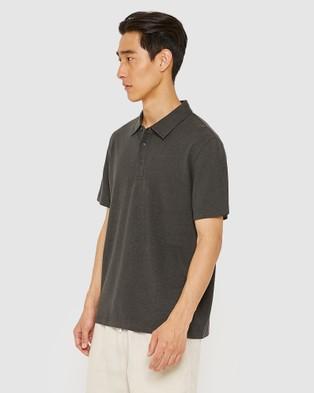 Jag The Hemp Cotton Polo - Shirts & Polos (Washed Black)