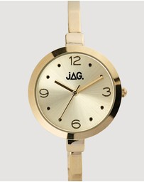 Jag - Daphne Champagne Dial IP Yellow Gold Bracelet 32 mm