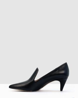 Kennedy Dot - Mid-low heels (BLACK)
