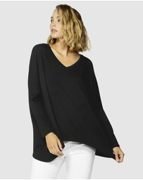 Betty Basics - Geneva  V-Neck Top