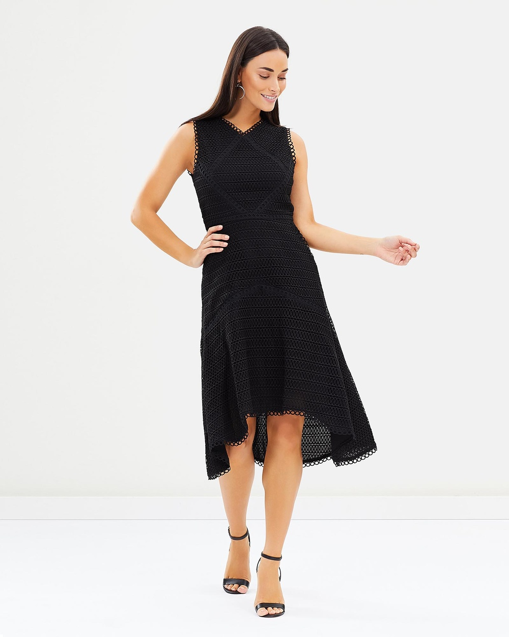 Honey and Beau Isabelle High Low Hem Dress Dresses Black Isabelle High-Low Hem Dress