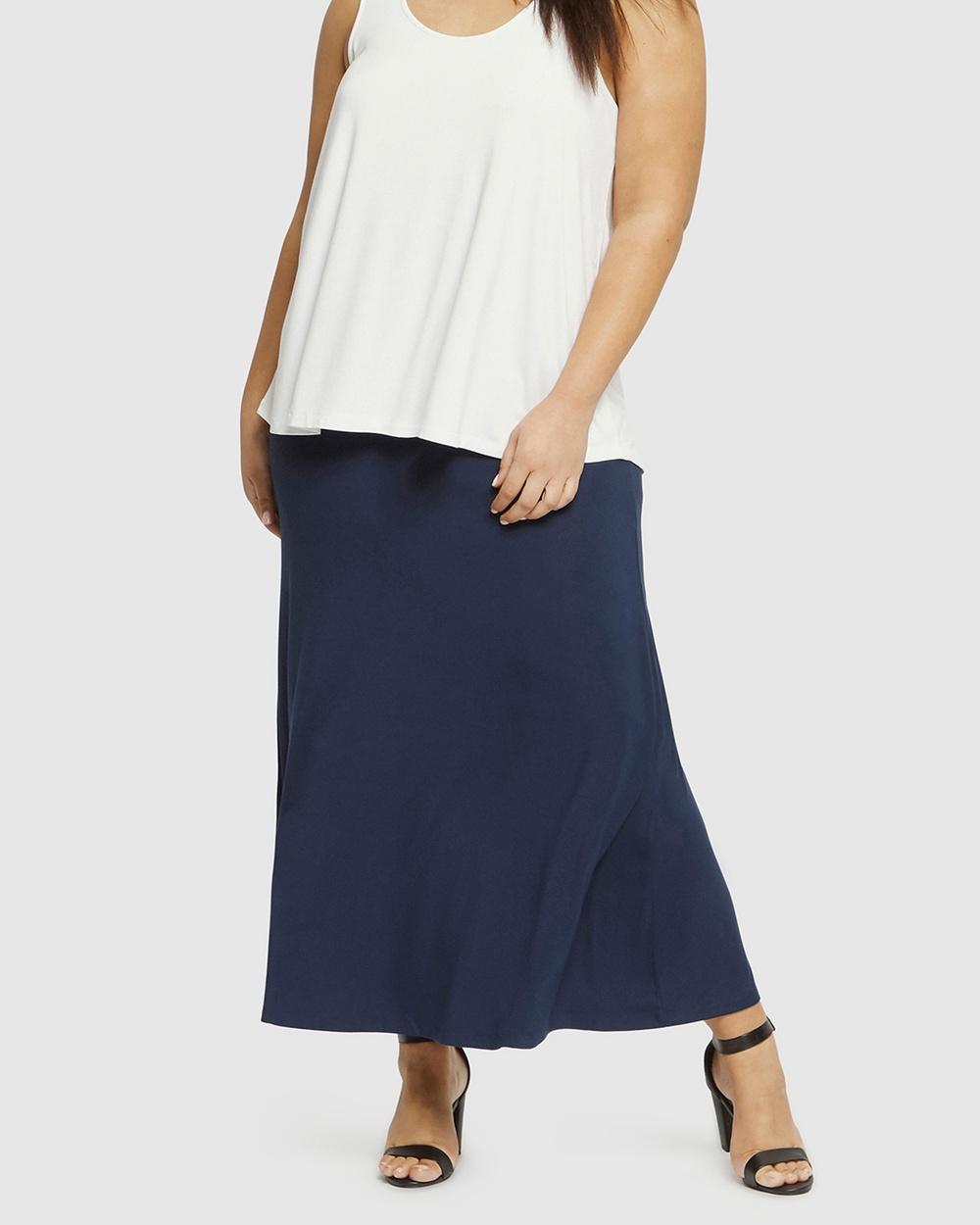 Bamboo Body Lana Long Skirt Skirts Navy