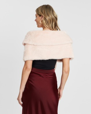 Unreal Fur Champagne Wrap - Coats & Jackets (Pink)