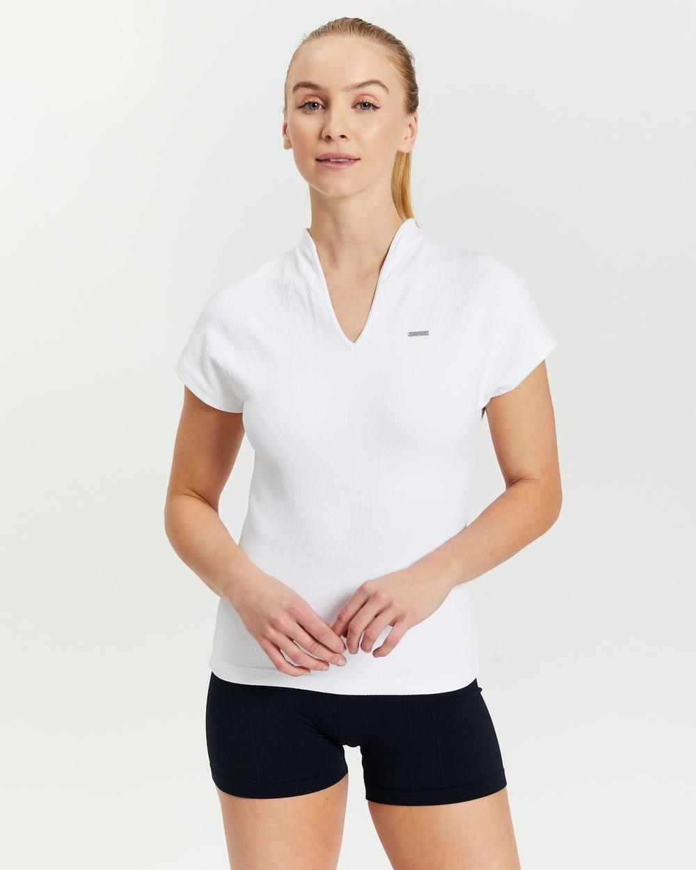Aim'n Luxe Seamless Polo Shirt Short Sleeve T-Shirts White
