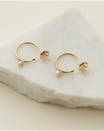 By Charlotte - 14k Gold Tranquility Hoops - Pair
