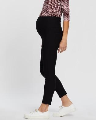Angel Maternity Over The Belly Slim Crop Pants - Pants (Black)