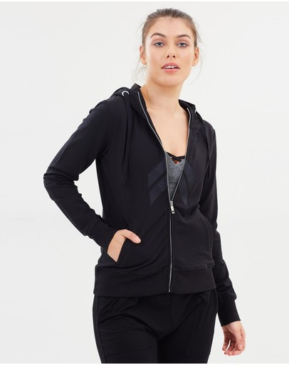 Pilot Athletic Carter Hoodie Jacket With Applique Black