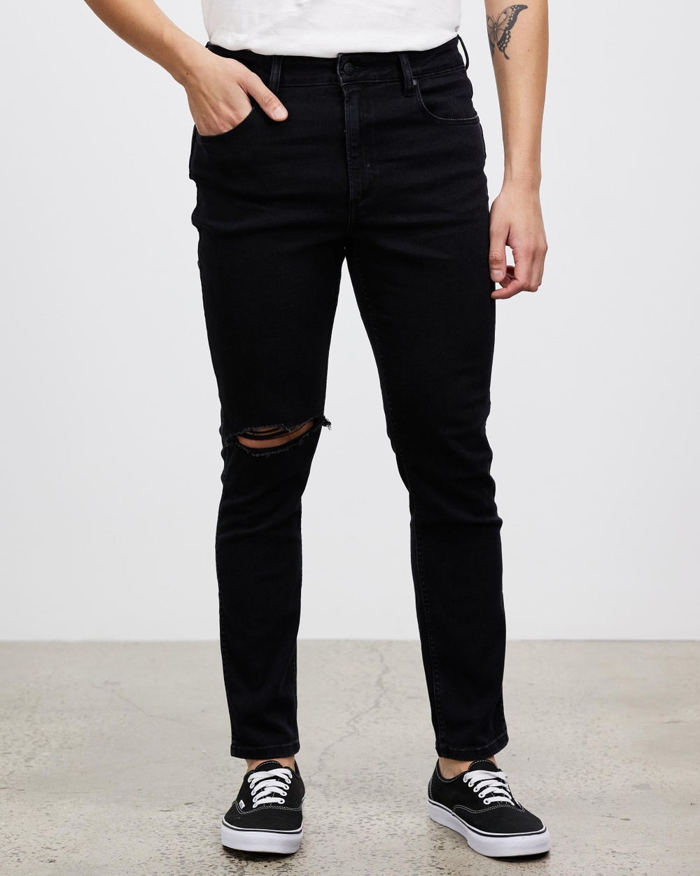 Wrangler Sid Jeans Slim Washed Black