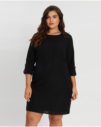 Atmos&Here Curvy - Janie Button Sleeve Dress