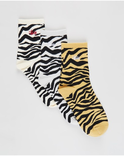 Stussy - Graffiti Zebra Socks 3-Pack