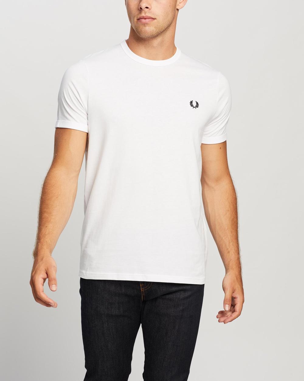 Fred Perry - Ringer T Shirt - T-Shirts & Singlets (100 White) Ringer T-Shirt