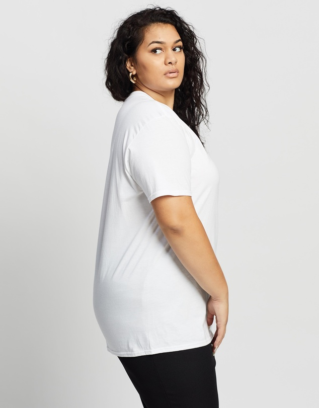 Women Plus Size Butterfly Graphic T Shirt