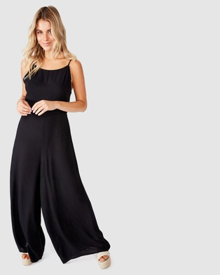 Cotton On Woven Rosie Tie Back Jumpsuit - Jumpsuits & Playsuits (Black)