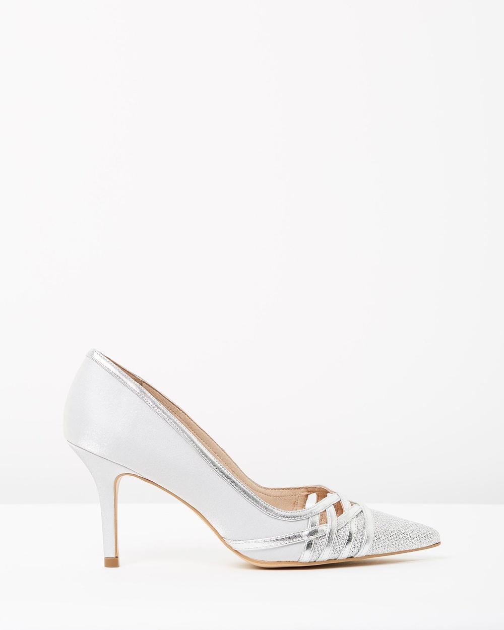 Nina Armando Lucieli Mid-low heels Silver Lucieli