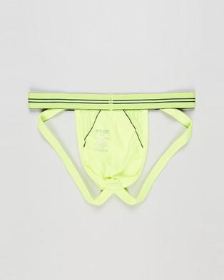 2xist - Sports Mesh Jock Strap Underwear (Neon Yellow)