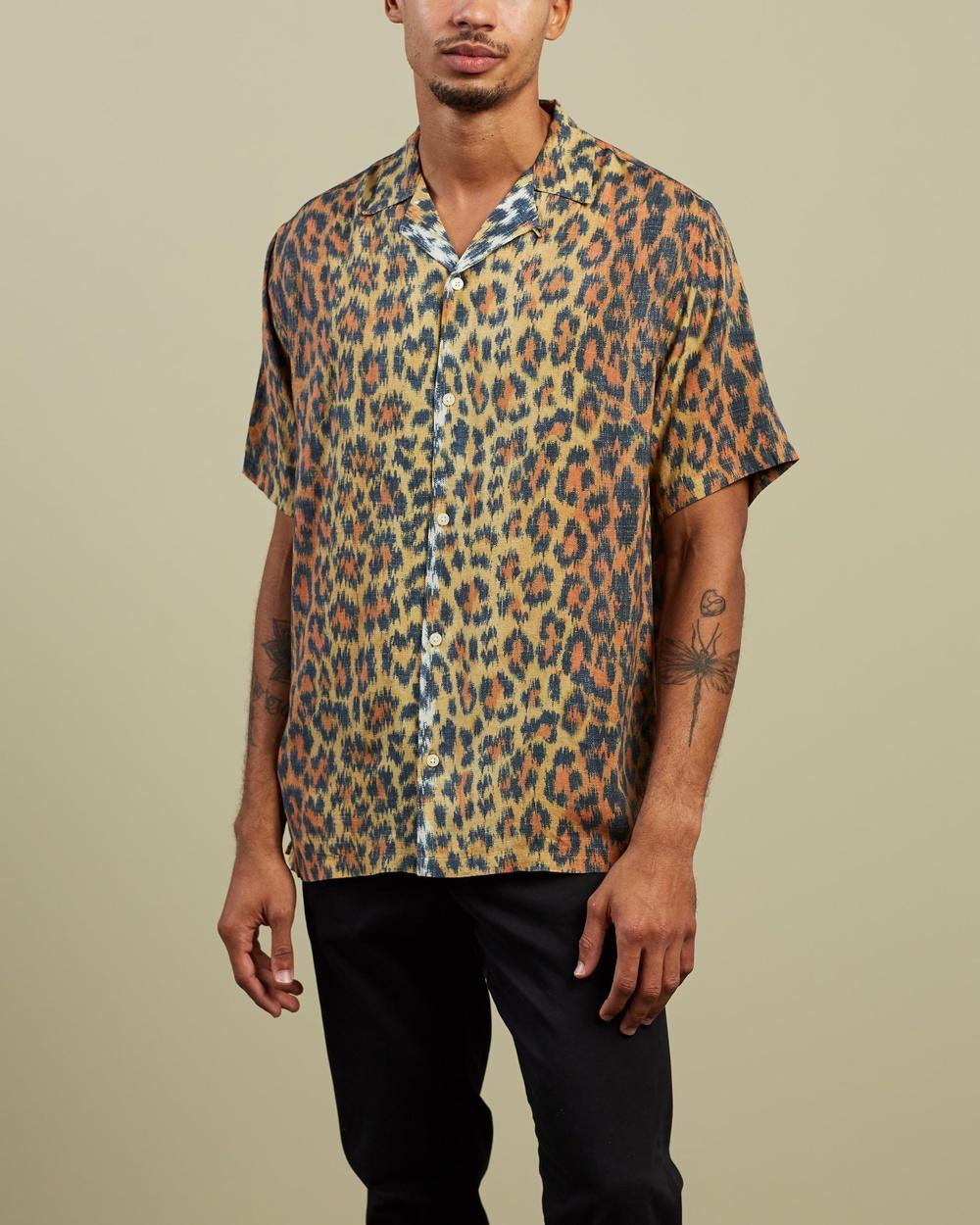 AllSaints Colt Short Sleeve Shirt Casual shirts Yellow